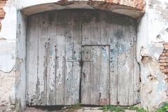 Vecchio cancello di legno Immagini Stock Libere da Diritti