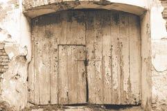 Vecchio cancello di legno Fotografia Stock