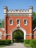 Vecchio cancello in sanatorio Petrodvorets Fotografia Stock Libera da Diritti