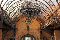 Vecchio candeliere del ferro Fotografia Stock