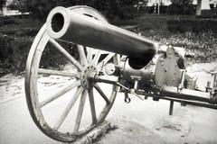 Vecchio cannone fotografie stock