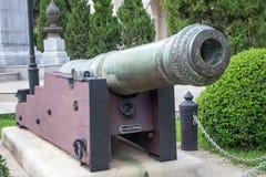 Vecchio cannone, affrontante parte anteriore Fotografie Stock Libere da Diritti