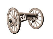 Vecchio cannone britannico del campo isolato Immagine Stock
