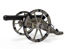 Vecchio cannone 3D Fotografie Stock Libere da Diritti