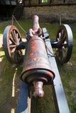 Vecchio cannone del campo Fotografia Stock