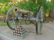 Vecchio cannone del campo di battaglia Fotografia Stock Libera da Diritti