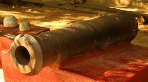 Vecchio cannone della fortificazione del vellore Immagini Stock Libere da Diritti