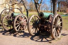 Vecchio cannone. Isola di Suomenlinna, Finlandia immagine stock libera da diritti