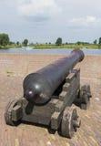 Vecchio cannone nero Fotografia Stock Libera da Diritti