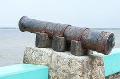 Vecchio cannone rustico Fotografie Stock Libere da Diritti