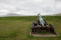 Vecchio cannone sulla fortezza storica Skansin fotografia stock libera da diritti