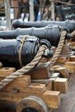 Vecchio cannone sulla nave Fotografie Stock Libere da Diritti
