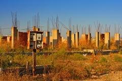 Vecchio cantiere abbandonato Fotografia Stock Libera da Diritti