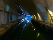Vecchio cantiere navale sotterraneo fotografia stock