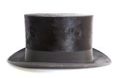 Vecchio cappello del cappello a cilindro Fotografia Stock