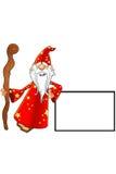 Vecchio carattere rosso dello stregone illustrazione vettoriale