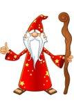 Vecchio carattere rosso dello stregone royalty illustrazione gratis