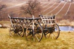 Vecchio carrello di legno Fotografie Stock Libere da Diritti