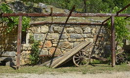 Vecchio carrello di legno Immagine Stock