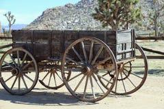 Vecchio carretto del vagone in U.S.A. occidentale Fotografie Stock