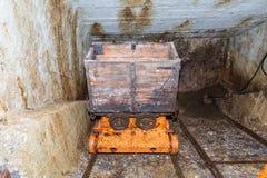 Vecchio carretto di estrazione mineraria Immagine Stock