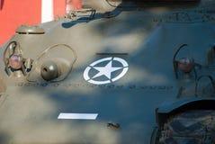 Vecchio carro armato di Sherman Fotografia Stock