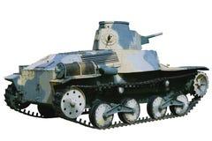 Vecchio carro armato leggero cammuffato Immagine Stock