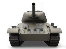 Vecchio carro armato pesante militare grigio - colpo del primo piano di vista frontale illustrazione di stock