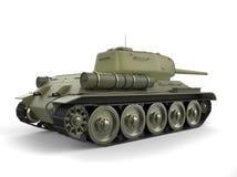 Vecchio carro armato pesante militare - primo piano di retrovisione royalty illustrazione gratis