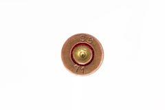 Vecchio cartridg vuoto usato della pistola di 9mm Fotografie Stock Libere da Diritti