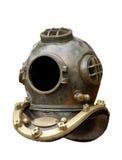 Vecchio casco di immersione subacquea Fotografie Stock Libere da Diritti