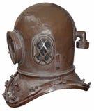 Vecchio casco di immersione subacquea Immagini Stock