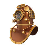 Vecchio casco di immersione subacquea illustrazione di stock
