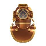 Vecchio casco di immersione subacquea Immagine Stock Libera da Diritti