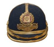 Vecchio casco militare Immagini Stock