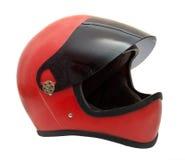 Vecchio casco rosso Fotografie Stock Libere da Diritti