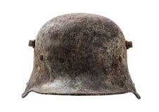 Vecchio casco tedesco Fotografia Stock