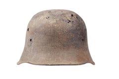 Vecchio casco tedesco arrugginito Fotografia Stock