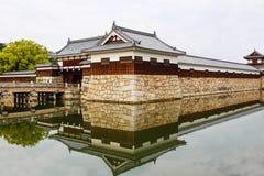 Vecchio casle di Hiroshima nel Giappone, sul fiume di Otagawa di estate Fotografia Stock Libera da Diritti