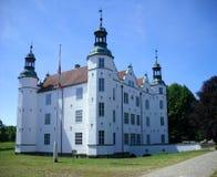 Vecchio castello antico bianco Fotografia Stock