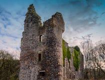Vecchio castello antico e frequentato della Camera di Auchens di rovine Immagine Stock