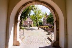 Vecchio castello antico europeo Immagine Stock