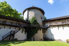 Vecchio castello in Banska Stiavnica, Slovacchia Città della regione di Leon e della Castiglia Fotografie Stock Libere da Diritti