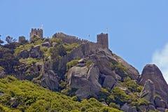 Vecchio castello del Moorish, Sintra, Portogallo Immagine Stock Libera da Diritti