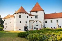 Vecchio castello della città in Varazdin Fotografie Stock Libere da Diritti