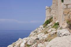 Vecchio castello della spiaggia Immagini Stock