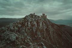 Vecchio castello di Calascio fotografia stock libera da diritti
