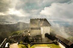 Vecchio castello di Celje, Slovenia fotografie stock libere da diritti