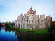 Vecchio castello di Gravensteen, Gand Fotografia Stock Libera da Diritti