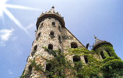 Vecchio castello di pietra vicino alla città di Sozopol Immagini Stock